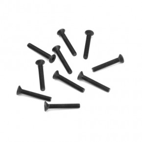 TKR1327-M3x16mm Flat Head Screws (black, 10pcs)