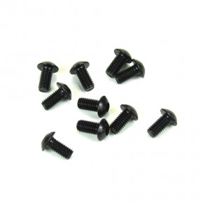 TKR1401-M3x6mm Button Head Screws (black, 10pcs)