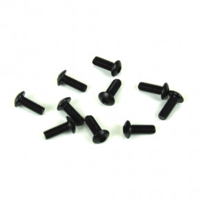 TKR1402-M3x8mm Button Head Screws (black, 10pcs)
