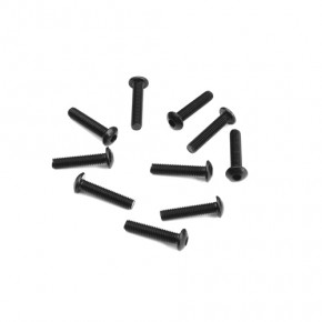 TKR1405-M3x14mm Button Head Screws (black, 10pcs)