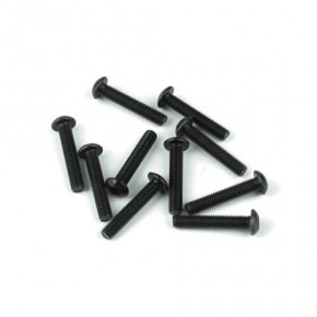 TKR1407-M3x16mm Button Head Screws (black, 10pcs)