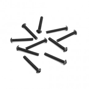 TKR1409-M3x20mm Button Head Screws (black, 10pcs)