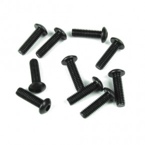 TKR1448-M4x18mm Button Head Screws (black, 10pcs)