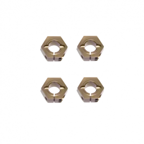 TKR1654X-12mm Aluminum Hex Adapters for Tekno SCT410, Slash/Stampede M6 Driveshafts and AE SC10 4×4