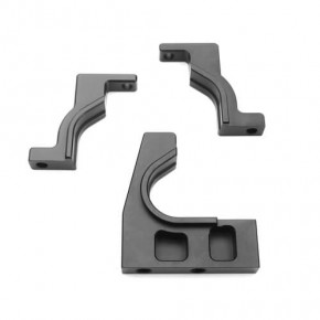 TKR5262-CNC Split Cntr Diff Mount (diff mounts only, 7075, gun metal ano, EB/ET/SCT/MT)