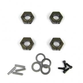 TKR5571A-Wheel Hexes (SCT410, 12mm, aluminum, 4 Stück)