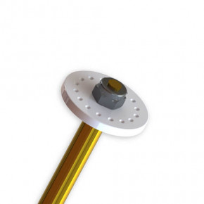 TKR6160-Shock Piston Blanks (CNC, flat/tapered, 16 dimples, 4pcs)