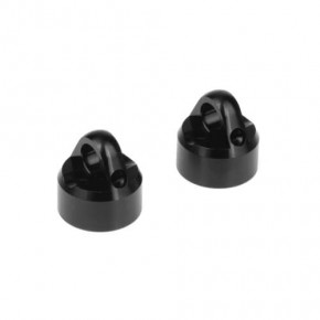 TKR6712A-Tekno RC Shock Caps (7075, emulsion, black ano, 2pcs)