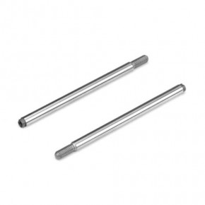 TKR6757-Shock Shafts (rear, steel, ET410, 2pcs)